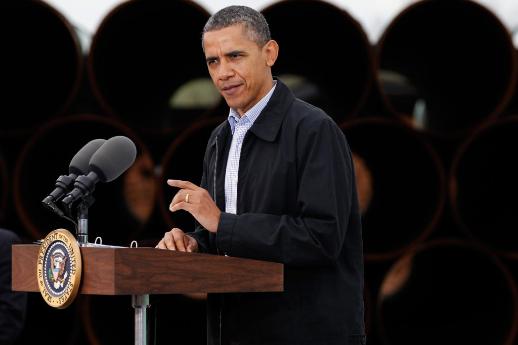 President Obama addresses Keystone Pipeline at southern site.
