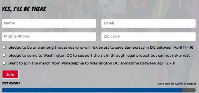 democracy spring pledge