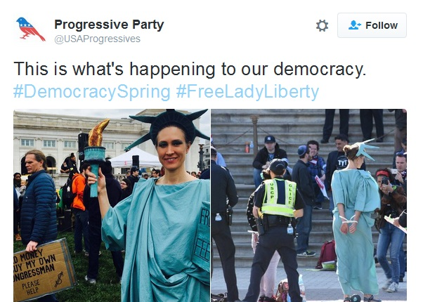 lady liberty arrested