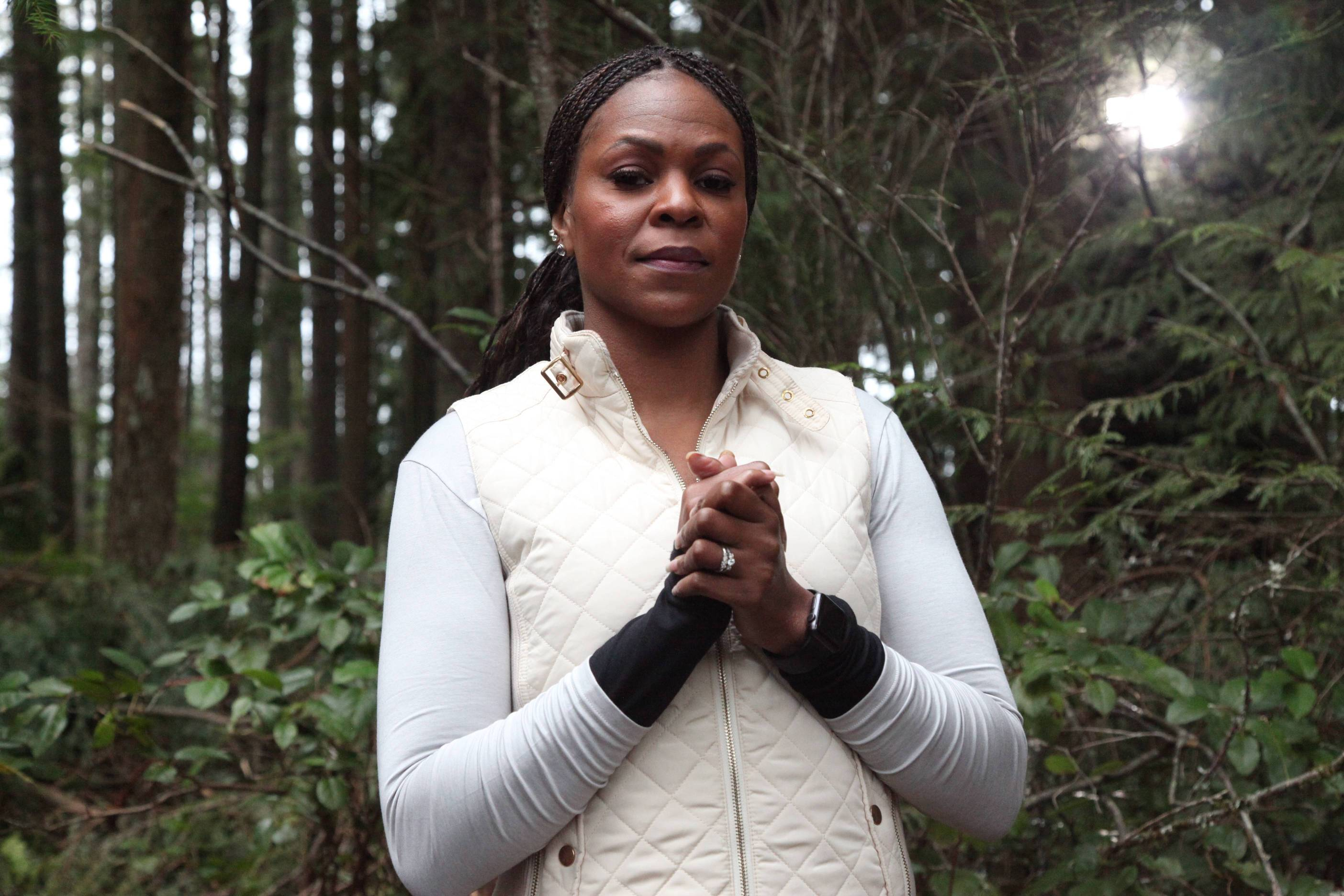 "Cadre member Tawanda Hanible in the ""Double Time"" episode of AMERICAN GRIT"