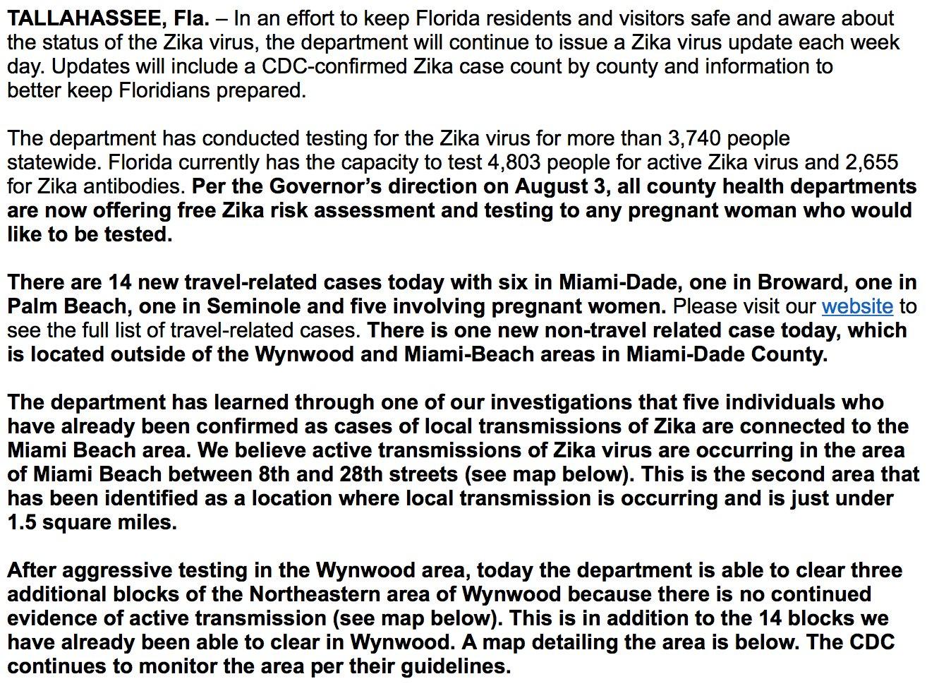 zika virus Miami
