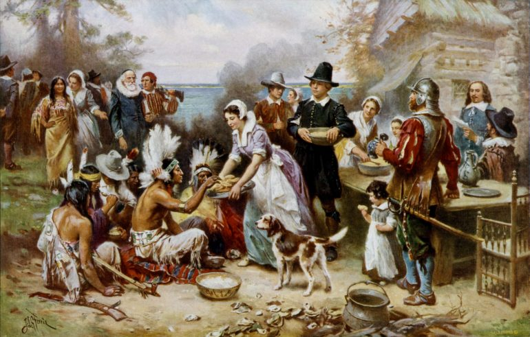 the_first_thanksgiving oil painting