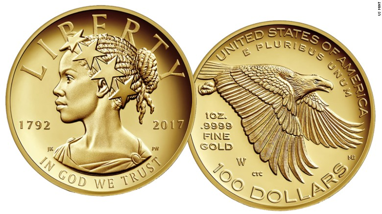 U.S. Mint Releasing Commemorative Gold Coin Depicting Lady Liberty As Black