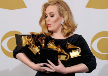 Getty Images, Adele with Grammys