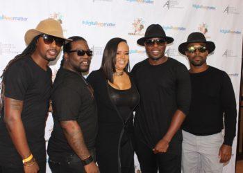 Producer Rikki Hughes with the film #DigitalLivesMatter's glam squad