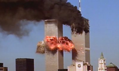 WTC on fire