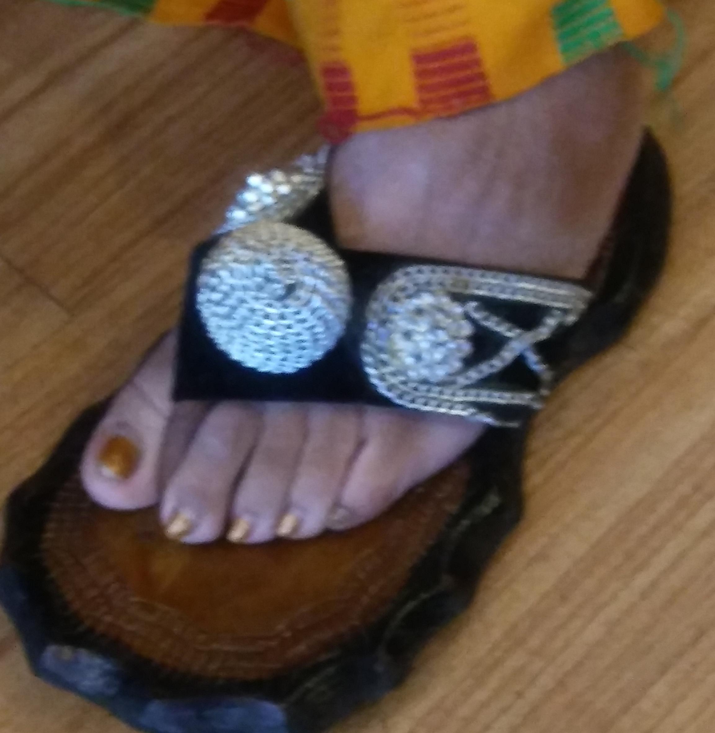 her shoe