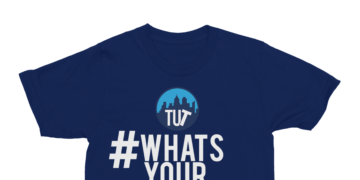 #WhatsYourTwist Tee – Navy Blue