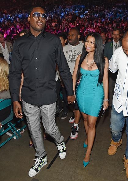 Nicki Minaj with her boo Meek Mills
