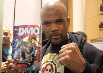 DMC shows off his comic book at the Black Comic Book Festival (Image: Victoria Johnson)