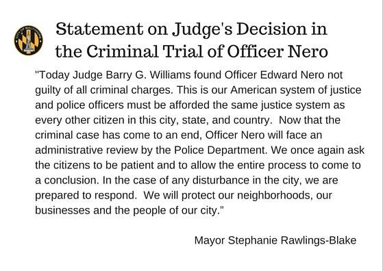 Mayors statement