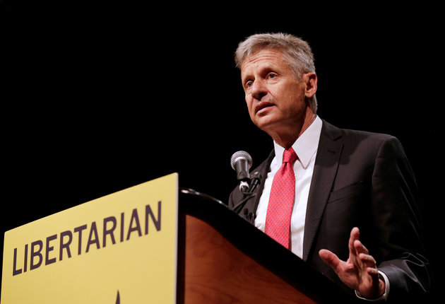 Libertarian Gary Johnson