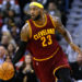 Cleveland Cavaliers forward LeBron James (23) drives with the ball during the first half of an NBA basketball game against the New Orleans Pelicans in New Orleans, Friday, Dec. 12, 2014. (AP Photo/Jonathan Bachman)