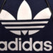 A former logo of the German sportswear maker Adidas is on display in the company headquarters in Herzogenaurach, southern Germany, during the annual press conference on March 8, 2017.  / AFP PHOTO / Christof STACHE        (Photo credit should read CHRISTOF STACHE/AFP/Getty Images)