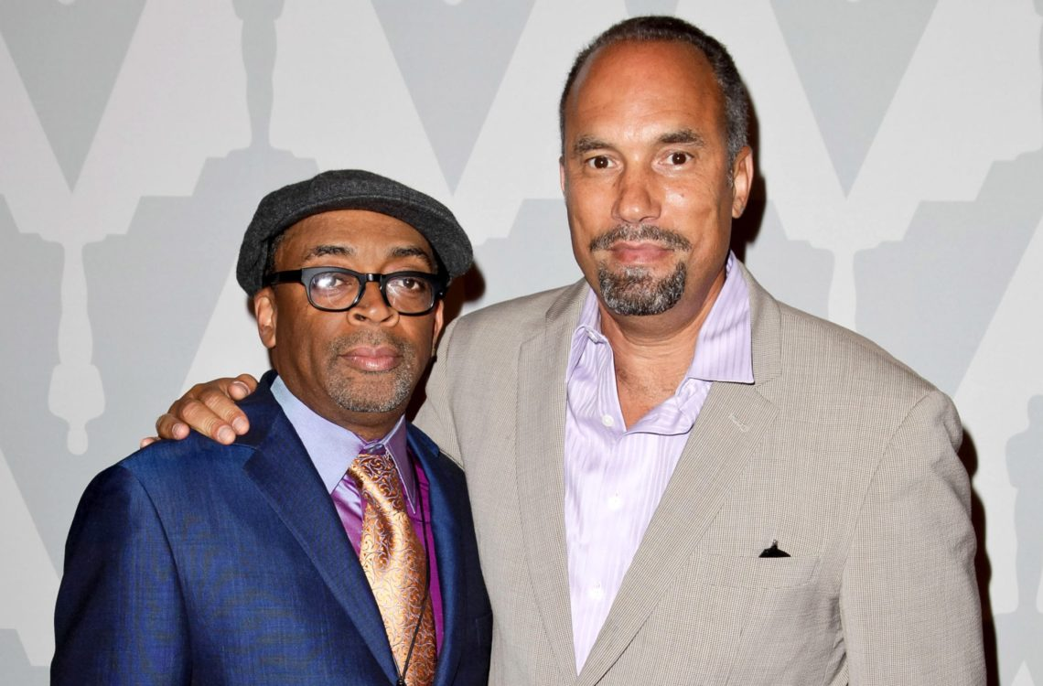 LOS ANGELES, CA - JUNE 27:  (L-R) Roger Guenveur Smith and Spike Lee attend the 25th anniversary screening of 'Do The Right Thing' presented by The Academy at Bing Theatre At LACMA on June 27, 2014 in Los Angeles, California.  (Photo by Tibrina Hobson/FilmMagic)