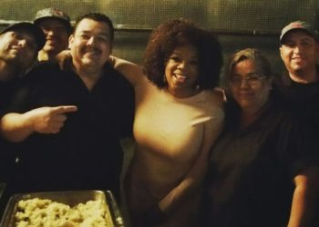Gala Catering with Oprah! (Courtesy @GalaCrew Instagram)