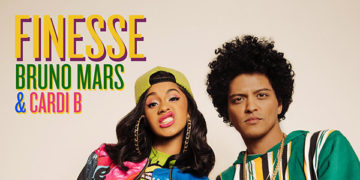 "Cover image to ""Finesse"" by Bruno Mars and Cardi B."